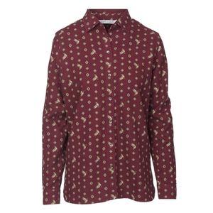 Woolrich Keystone Printed Chamois Shirt Button Up Flannel Size Medium Maroon